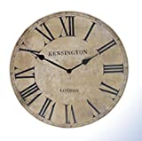 Kensington London Stone Effect Wall Clock - Quartz Motion
