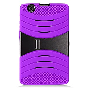 LG G Pad X 8.0 Case, IECUMIE WAVE Skin Protective Cover Case w/ Built-in Kick Stand for LG G Pad X, 8.0 - Purple Blk (Package Include an IECUMIE Stylus Pen)