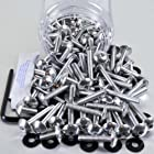 Aluminium Tub Dome/Fairing Bolts 6M 100 Piece Silver