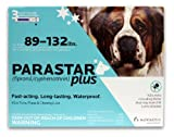 Novartis Parastar Plus Flea and Tick Control for Dogs, 89 to 132-Pound, Blue