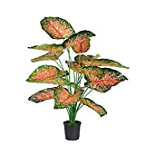 Ginni Bloom Artificial Pink Beauty Plant - 18 Leaves (without vase)