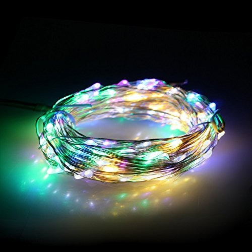 Loftek® Waterproof Starry String Led Lights - 20M/66Ft 200 Leds, Flexible Copper Wire Light Perfect Choice For Outdoor Indoor Festival Decoration Christmas Wedding Party (Multi-Color, 20M With Adapter)