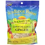 Sunridge Farms Crystallized Ginger, 6-Ounce Bags (Pack of 12) ~ SunRidge Farms