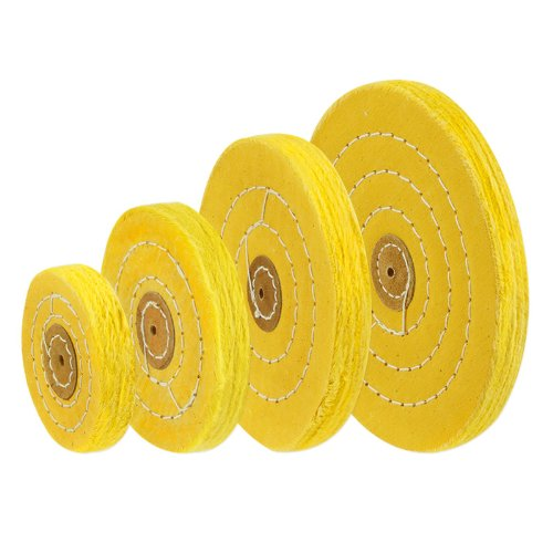 5-inch Coarse Yellow Cotton Muslin Buffing Polishing Wheels with 1/4-inch Arbor Hole (Bench Grinder Leather Wheel compare prices)