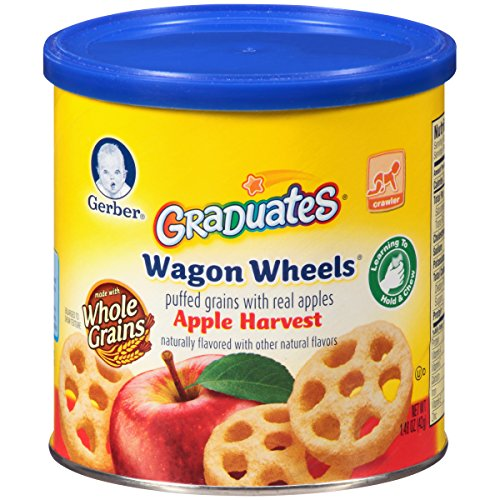Gerber Graduates Finger Foods Harvest Apple Wagon Wheels, 1.48-Ounce Canisters (Pack of 6) (Gerber Baby Food Case compare prices)