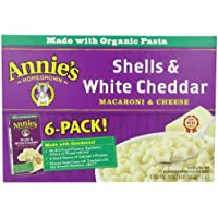 24 Pack Annie's Homegrown Shells & White Cheddar, 6-Ounce Boxes