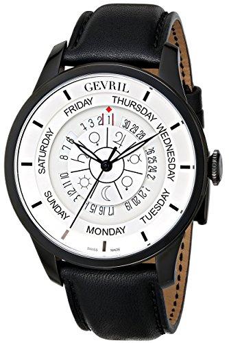Gevril Hombre 2005Columbus Circle Reloj de acero inoxidable revestido de iones), color negro