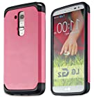 myLife Barbie Pink {Hard Shell Design} 2 Layer Neo Hybrid Case for the for the LG G2 Smartphone (External Rubberized Hard Safe Shell Piece + Internal Soft Silicone Flexible Bumper Gel)