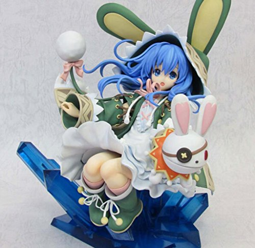 Rosy Women Date A Live Yoshino Recluse Lovely Sitting Posture Crystal Pvc Action Figure Collection Model Toys Doll 21Cm