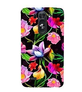 Floral Art 3D Hard Polycarbonate Designer Back Case Cover for LG G3 Beat :: LG G3 Vigor :: LG G3s :: LG g3s Dual