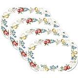 4 Corelle Coordinates Reversible Placemats - Chutney - Washable Plastic