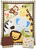 Bedtime Originals Jungle Buddies 3 Piece Crib Bedding Set, Brown/Yellow thumbnail