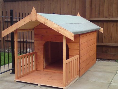 Luxury Dog Kennel Doggy Summerhouse With Veranda