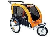 Booyah Large Pet Bike Trailer Dog Stroller & Jogger with Shocks MB - Orange