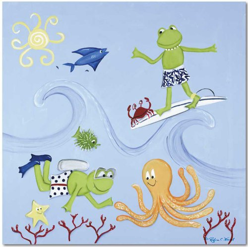 "Doodlefish Gallery-Wrapped 20""x20"" Wall Art, Scuba Frog - 1"
