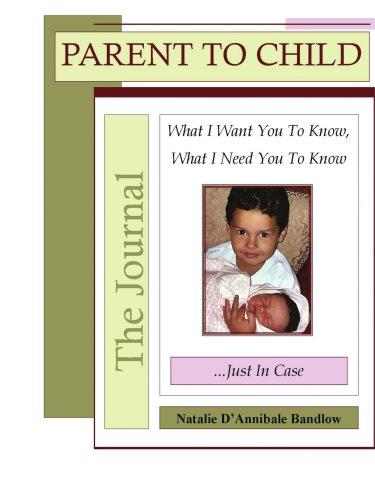 家长对孩子杂志: 我想让你知道,我需要你知道......只是以防万一