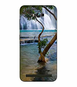 Snazzy Nature Printed Green Hard Back Cover For Asus Zephone Max