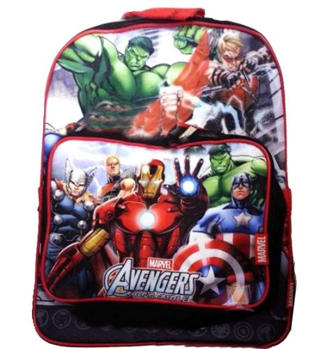 Backpack - Marvel - Avengers - All Heroes w/ Lunch Bag (Large School Bag) - 1