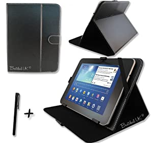 Black PU Leather Case Cover Stand for Fujitsu Stylistic M532 10.1'' 10.1 inch TABLET PC + Stylus Pen