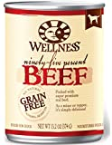 Wellness 95% Beef Grain Free Natural Wet Canned Dog Food, 13.2-Ounce Can (Pack of 12)