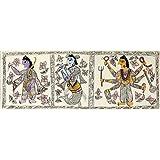 "Dolls Of India ""Avataras Of Vishnu"" Madhubani Folk Art On Paper - Unframed (13.97 X 38.10 Centimeters)"