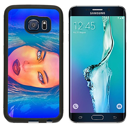 MSD Premium Samsung Galaxy S6 Edge Aluminum Backplate Bumper Snap Case IMAGE ID 43526580 Brunette woman in a beautiful abstract digital art style (Kamasutra Jelly compare prices)