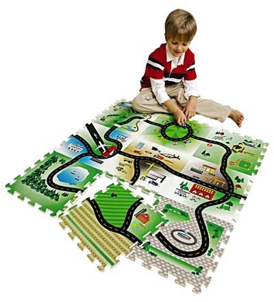 Cheap Hearth Song EVA Foam Tiles Roadway Play Mat, Set of 9 (B005OLZR30)