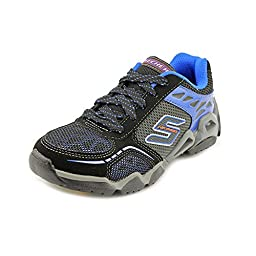 Skechers Boys Air-Mazing Kid Airtrax Isobar,Black/Royal,US 13 M