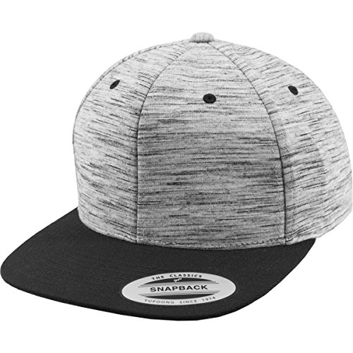 Berretto Flexfit Stripes Melange Crown snapback, BLK/GRY, taglia unica, 6089sc