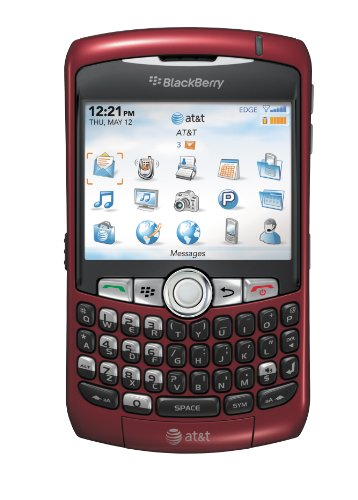 Blackberry Curve 8310 Unlocked Phone with GPS, 2MP Camera and Bluetooth - No Warranty - Red