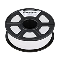 Excelvan 1.75mm PLA 3D Printer Filament - 1kg Spool (2.2 lbs) - Dimensional Accuracy +/- 0.02mm - Multi Colors Available (white) by Excelvan
