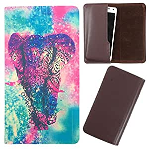 DooDa - For Micromax Canvas Hue AQ5000 PU Leather Designer Fashionable Fancy Case Cover Pouch With Smooth Inner Velvet
