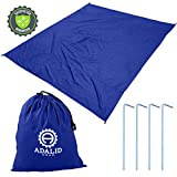 Search : Beach Blanket with Accessories: Nylon Tote Pouch & 4 Stakes/Pegs | Keep your Towel, Toys, Bag, and Clothes Free from Sand this Summer! | Also Used as Outdoor Camping Gear, Oversized Mat, Shade Tarp and Picnic Throw | OFF-SEASON SALE | 1-Year Warranty (Royal Blue, Medium)