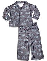 Calvin Klein - Baby Boys Long Sleeve Motorcycle Pajamas, Grey 29956-18Months