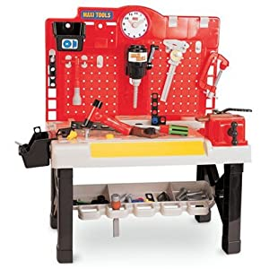 Kids Pretend Play Tool Work Bench Garage For Toddler Boys Tools Included Toys