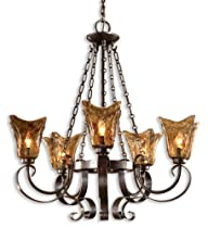 Hot Sale Uttermost 21007 Vetraio 5-Light Chandelier, Oil Rubbed Bronze Finish