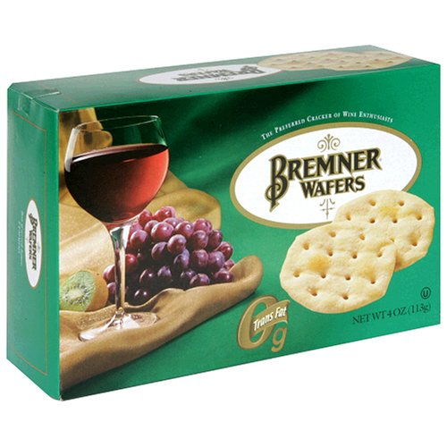 Bremner Wafers, Original Plain, 4-Ounce Boxes (Pack of 12)