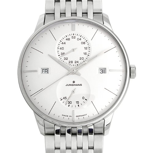 Meister Agenda Junghans 027/4365,44 40,4 mm Automático plateado acero pulsera y cristal reloj funda para hombre
