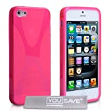 "Yousave Accessories Schutzh�lle aus Silikongel f�r iPhone�5, X-Line, Hot Pinkvon ""Yousave Accessories�"""