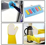 SUPER VALUE COMBO!! 6 Piece HOKIPO Cleaning Wipes + Pair of OKS Latex Sponge Cleaning Glove Scrubber