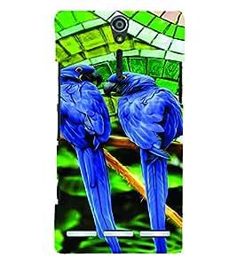 PrintVisa Birds Parrot Colorful 3D Hard Polycarbonate Designer Back Case Cover for Sony Xperia S :: SL LT26I LT26ii