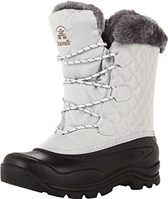 Kamik Women's Mount Snow Snow Boot,Light Grey,11 M US