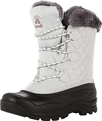 Kamik Women's Mount Snow Snow Boot,Light Grey,6 M US