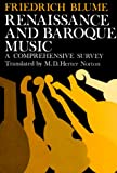 Renaissance and Baroque music :  a comprehensive survey /