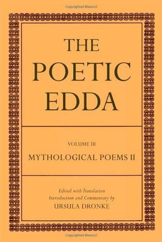 The Poetic Edda: Volume III Mythological Poems II by Ursula Dronke (2011-07-21)