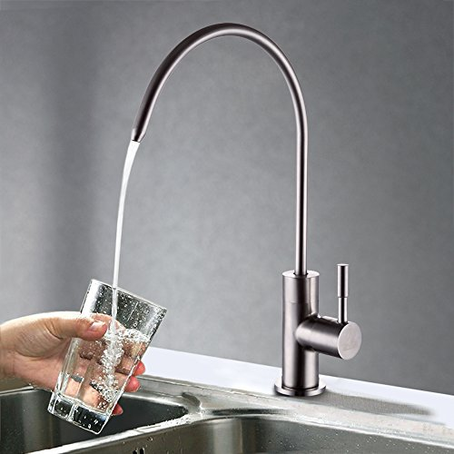 KES Z501C Lead Free Beverage Faucet Drinking Water Filtration System 1/4-Inch Tube, Brushed Stainless Steel (Stainless Reverse Osmosis compare prices)