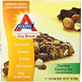 Atkins Day Break Chocolate Hazelnut Bar Morning Snack Bar, 5 Count Bars,1.4 Ounce