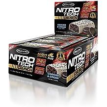 MuscleTech Nitro Tech Crunch Protein Bars, Cookies And Cream, 12 X 2.29 Oz Bars