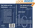 The Reduced Law Dictionary