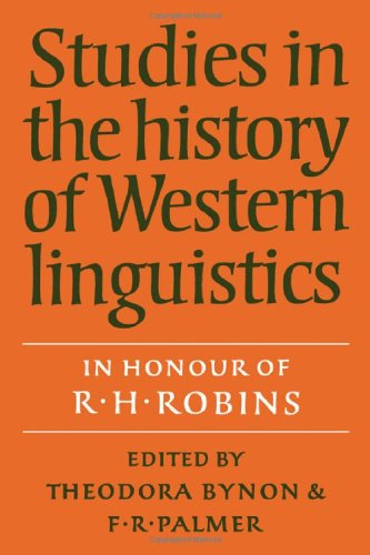Studies in the History of Western Linguistics